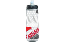 CamelBak Podium Chill Trinkflasche 610ml clear/racing red